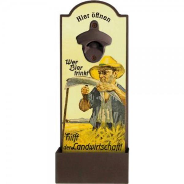 """Flaschenöffner """"Wer Bier trinkt hilft der Landwirtschaft"""""""
