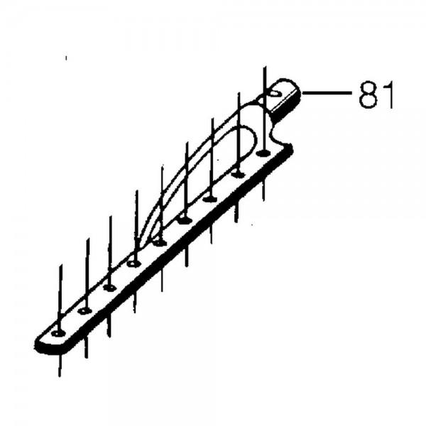 Untermesserkopf, L=400 mm, Zapfen-Ø 18 mm