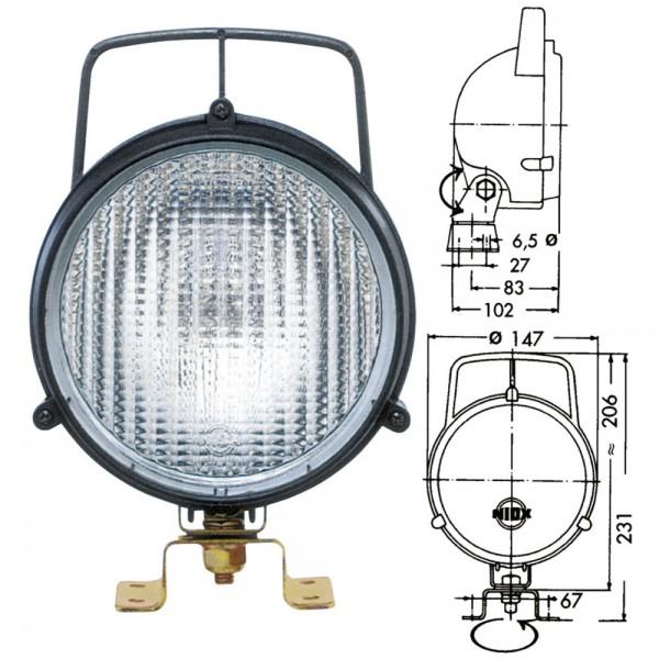 Arbeitsscheinwerfer NIOX W131, H3