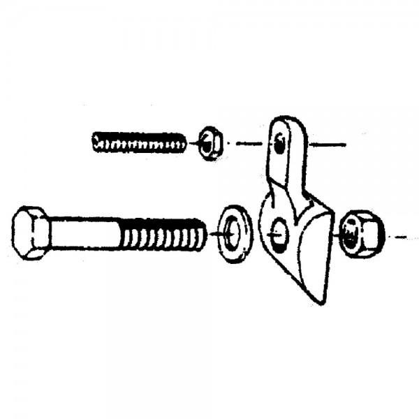 Zinkenhalter M12x50 mit Einstellschraube