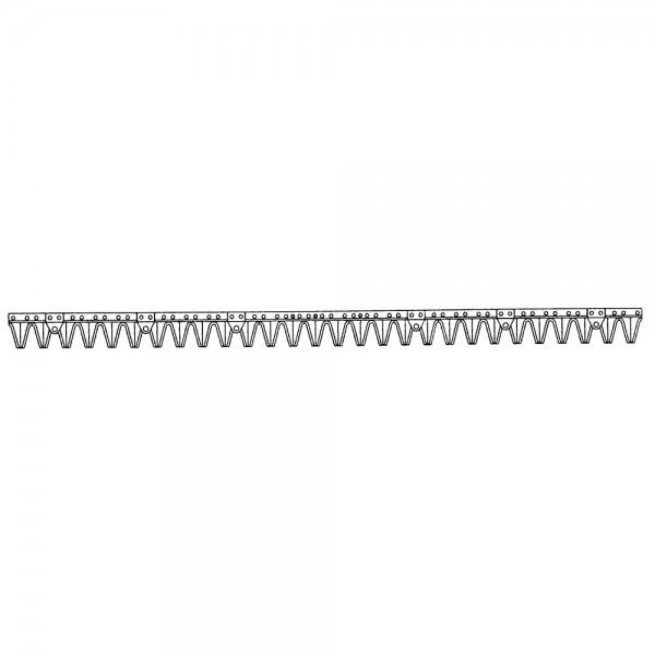 Mähmesser passend zu Reform Kommunalmähbalken Type 116, 131, 316, 2xM8 Gewindelöcher, Lochabstand 15