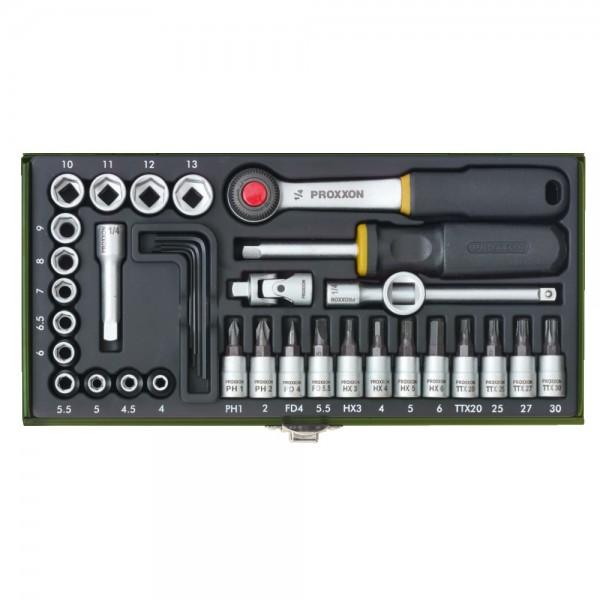 """Werkzeugsatz 1/4"""" Proxxon"""