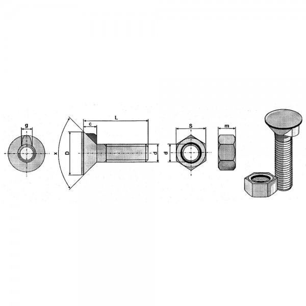 Anlageschraube mit 1 Nase DIN 604