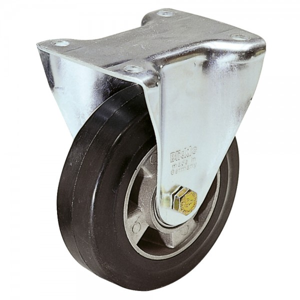 Stahlblech Bockrolle mit Elastik-Vollgummireifen