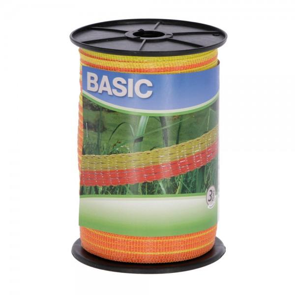 Weidezaunband Basic gelb/orange, 10mm/250m