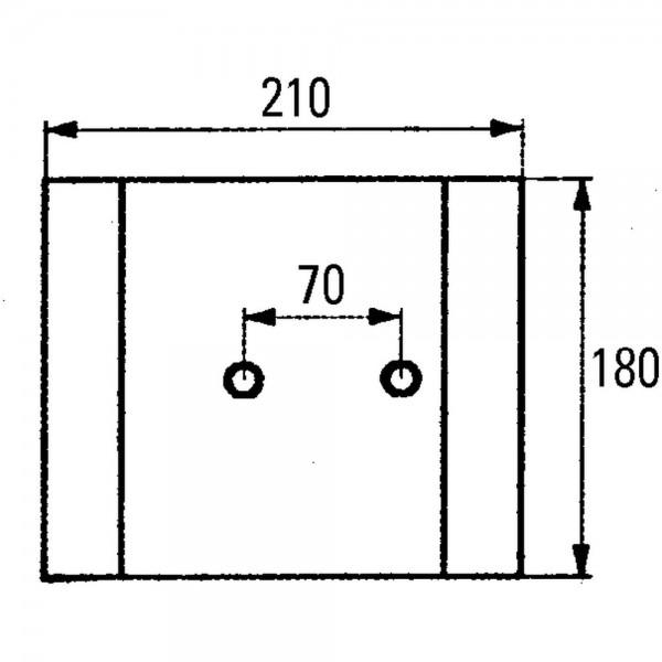 Gleitplatte P58.011.01, Stärke 12 mm