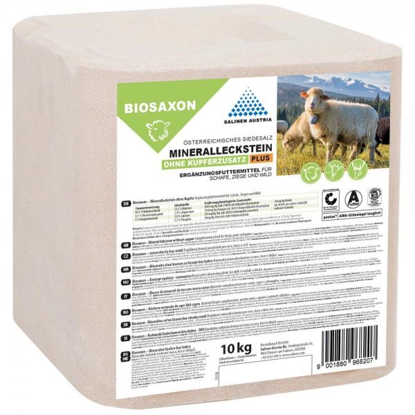 BIOSAXON PLUS Mineralleckstein für Schafe, 10 kg