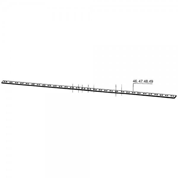 Mähmesserrücken 160 cm, 21 Klingen