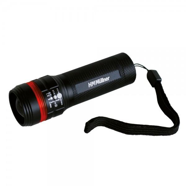 Stabtaschenlampe mit Zoom LED