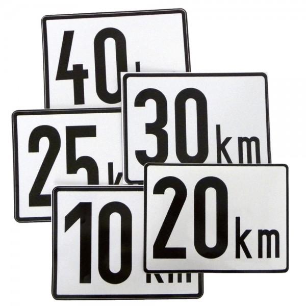 Geschwindigkeitstafel Ausführung Klebefolie